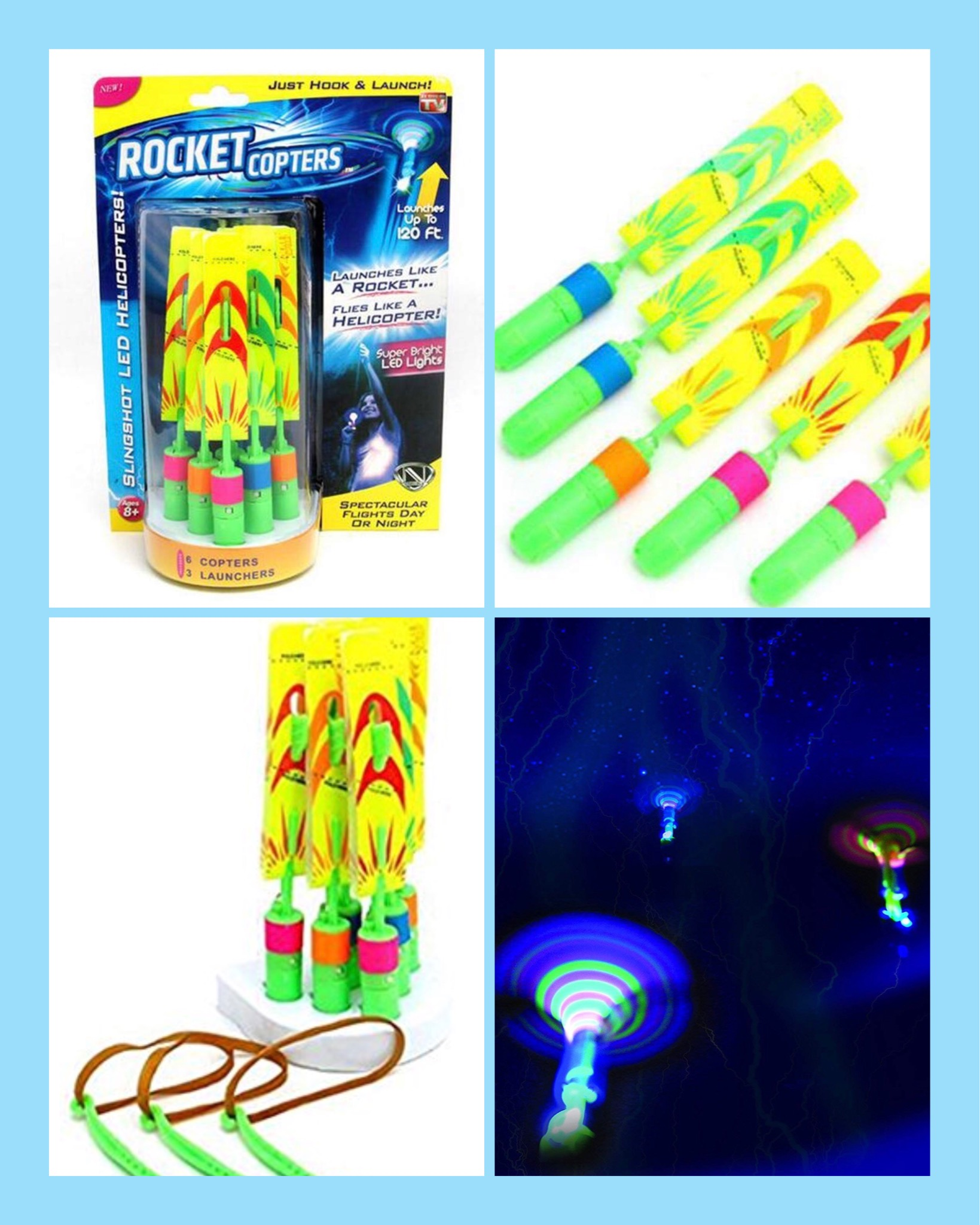 A Pack Of Rocket Copters Glochi Products Llc